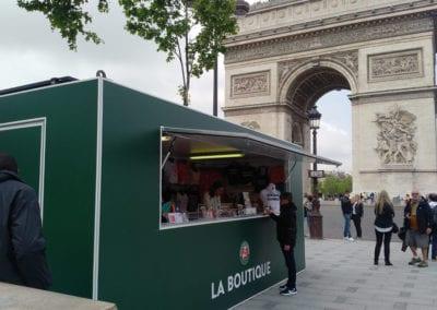 Roland Garros sales booths