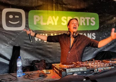Play sports DJ booth